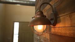 Reclaimed Wood Residential Wall Rise to Light - stock footage