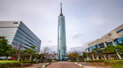Fukuoka Tower Time Lapse Stock Footage