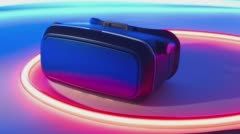 VR virtual reality goggles new technology Stock Footage