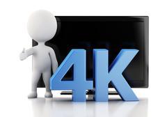 3d illustration. 4K UltraHD TV. Technology concept. - stock illustration