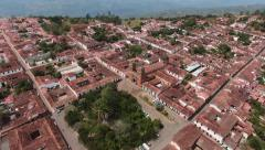 Colonial town in Colombia - stock footage