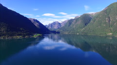 Stock Video Footage of Fjord in Norway, aerial view