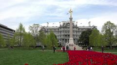 Washington DC Eisenhower Executive Office Building flowers HD Stock Footage