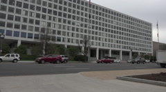 Washington DC Federal Aviation Administration building traffic HD Stock Footage