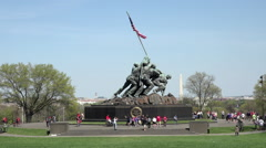 Washington DC Iwo Jima Memorial Marine Corp HD Stock Footage