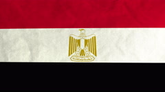 Egyptian flag waving in the wind (full frame footage) Stock Footage
