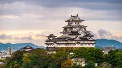 Himeji Castle in Japan Stock Footage