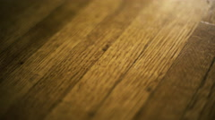 Vintage Hardwood Floor, Angled Stock Footage