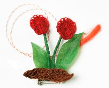 Crochet Flower Handmade Decorative Object Stock Photos