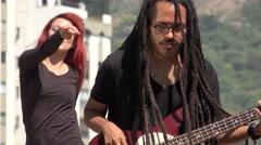 Reggea Music Group Duo Stock Footage