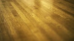 Shiny Vintage Hardwood Floor Stock Footage