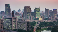 Tokyo Cityscape Time Lapse Stock Footage
