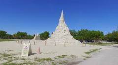 Worlds Largest sand castle Stock Footage