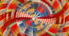 4K  abstract multicolored geometric motion background seamless looping fractal Stock Footage
