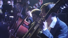 The Greatest Hits by Rock Symphony Double Bass Section of an Orchestra Stock Footage