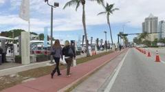 Miami Beach International Boat Show Stock Footage