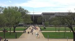 Washington DC mall Smithsonian museums across Mall tourism HD Stock Footage