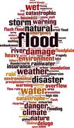 Flood word cloud Stock Illustration