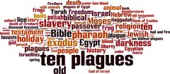 Ten plagues of Egypt word cloud Stock Illustration