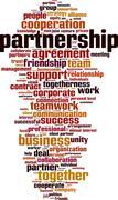 Partnership word cloud Stock Illustration