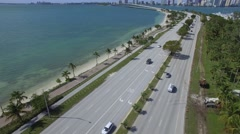 Key Biscayne FL Aerial video footage Stock Footage