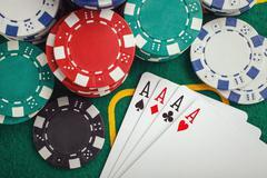 poker four aces - stock photo
