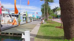 The Miami International Boat Show Stock Footage