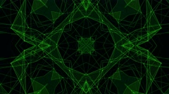 Green Technology Pattern Background. Hi-tech Lines and Polygons Art Animation Stock Footage