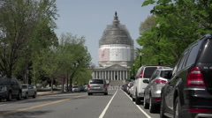 Washington DC Nations Capitol Building traffic HD Stock Footage