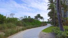Hallandale Beach park and playground Stock Footage