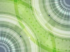 Abstract futuristic technology innovation background with circular pattern. - stock illustration