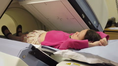 A young Girl Having A Medical Test In Hospital Stock Footage