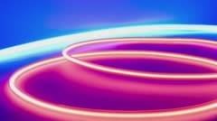 Neon lights abstract motion background Stock Footage