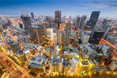 Osaka, Japan Skyline Stock Photos