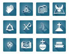 Christian Religious Icons - stock illustration