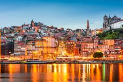 Porto Portugal on the Douro River - stock photo