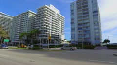 Stock Video Footage of Miami Beachfront condominiums