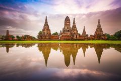 Ayutthaya, Thailand Ruins Stock Photos