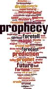 Prophecy word cloud Stock Illustration