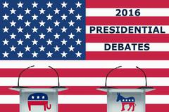 Presidential Debate 2016 - stock illustration