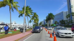 Directions Miami Beach boat show Stock Footage
