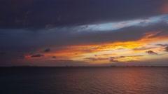Cancun city skyline at sunset Stock Footage