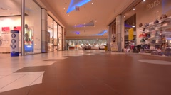 TRIESTE, ITALY: Empty shopping center Intercoop Stock Footage