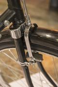 Shoe brakes on front wheel of Dawes British made bicycle - stock photo