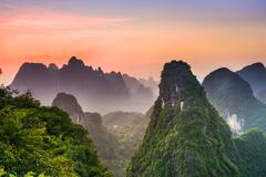 Karst Mountains of Guilin Stock Photos