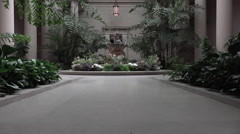 Washington DC National Gallery of Art education atrium garden HD Stock Footage