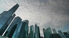 Time Lapse of Singapore Skycrapers Stock Footage