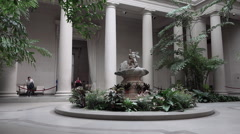 Washington DC National Gallery of Art education garden atrium HD Stock Footage