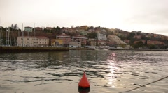 Buoy in the harbor of old town Muggia, Italy Stock Footage