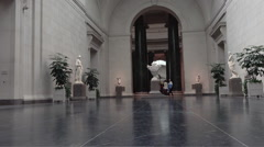 Washington DC National Gallery of Art education great hall HD Stock Footage